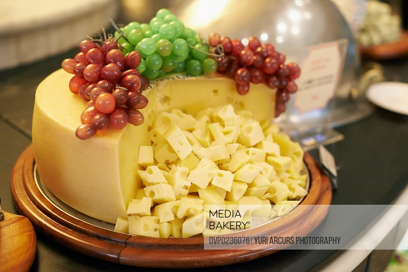 A selection of cheese beautifully displayed