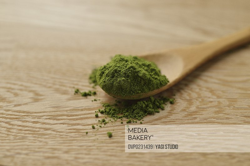 Close up of Japanese Green tea