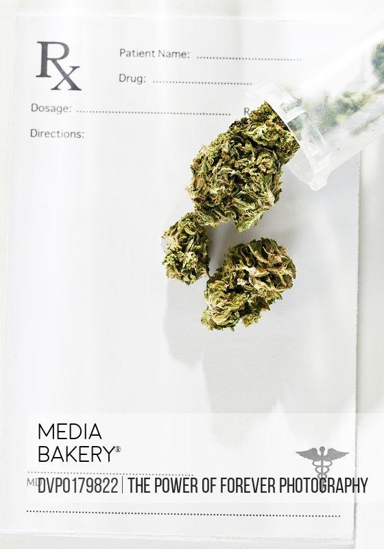 Still life concept for medical marijuana
