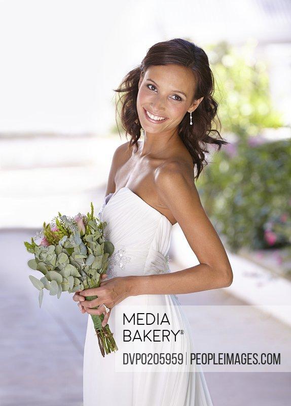Feeling beautiful on her wedding day