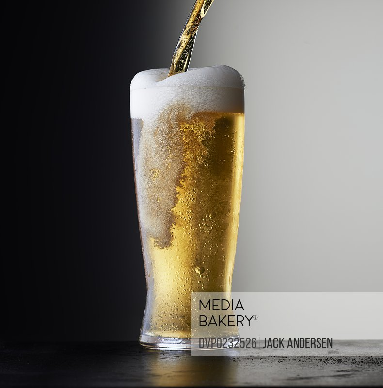 Simple stock beer on a dark background