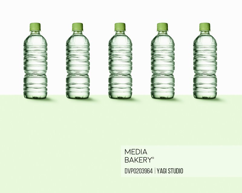 Plastic bottles of mineral water