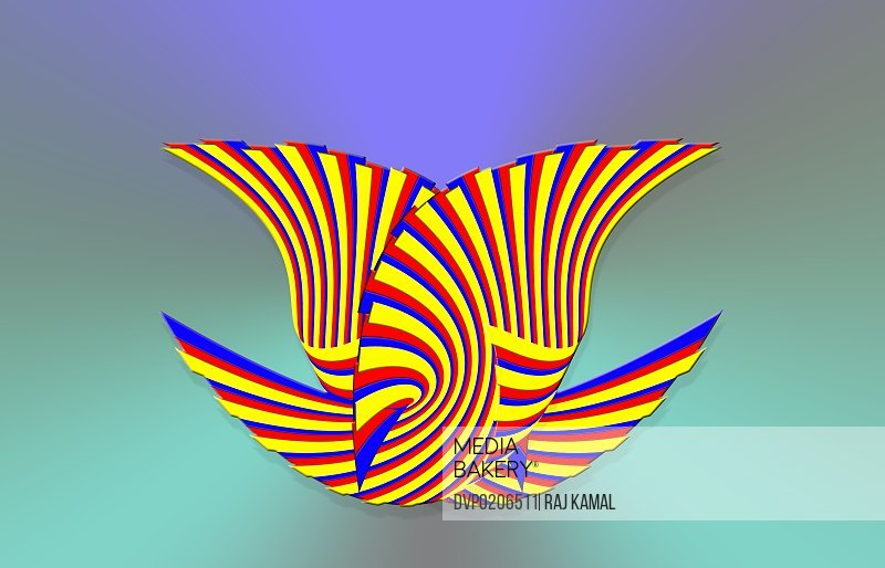 Striped Curved Lines Creative Design