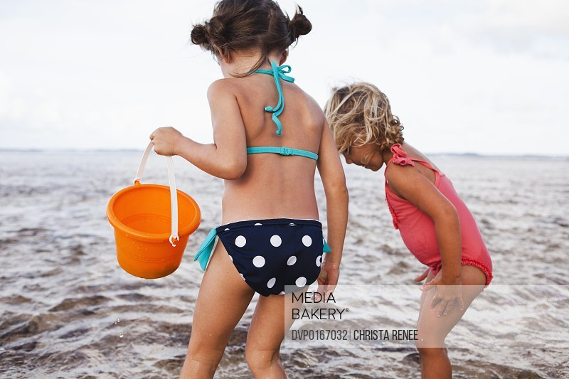 Two children at the beach