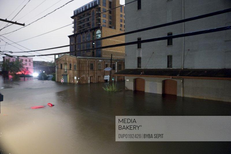 Flooded Urban Street.