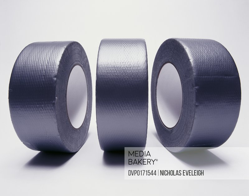 Three rolls of duct tape