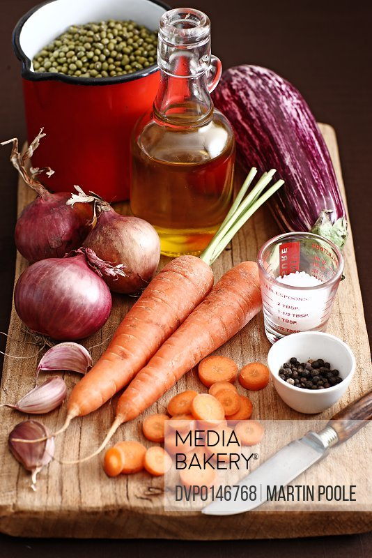 winter vegetables on chopping board