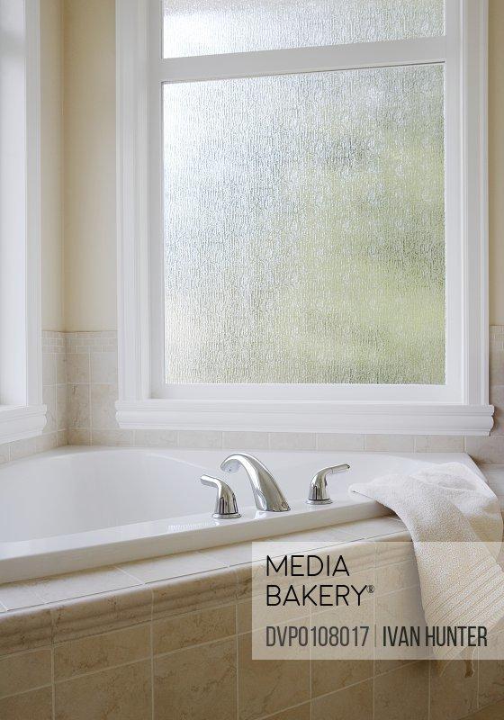 Bathtub in domestic bathroom