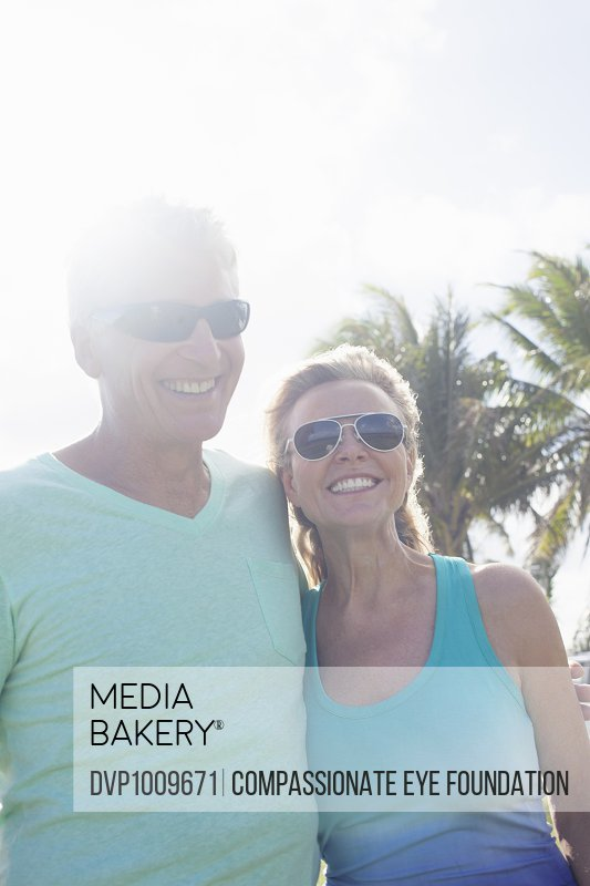 Smiling mature couple outdoors