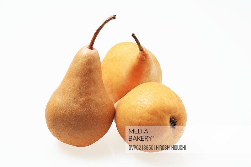 Three pears close-up