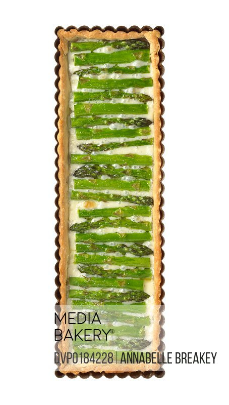 Asparagus Pie with Teleme Cheese or Mozzarella Baked in Pie Crust