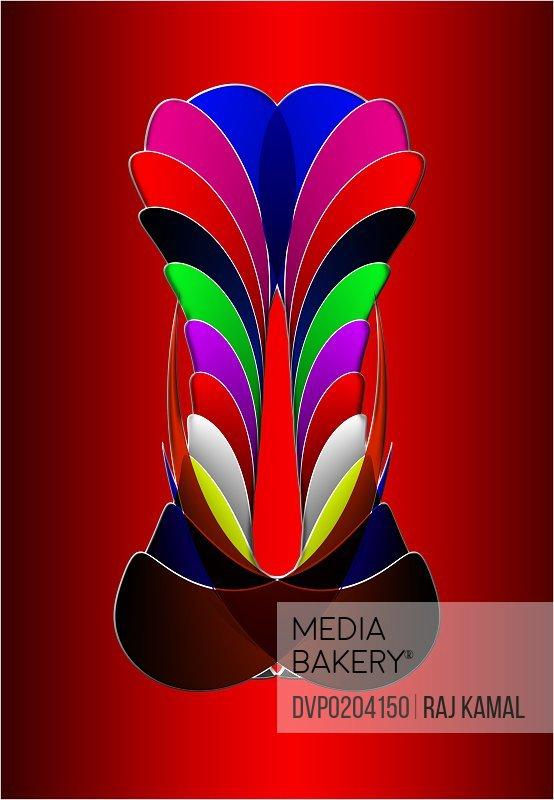 Horizontal Creative Shapes Abstract Design