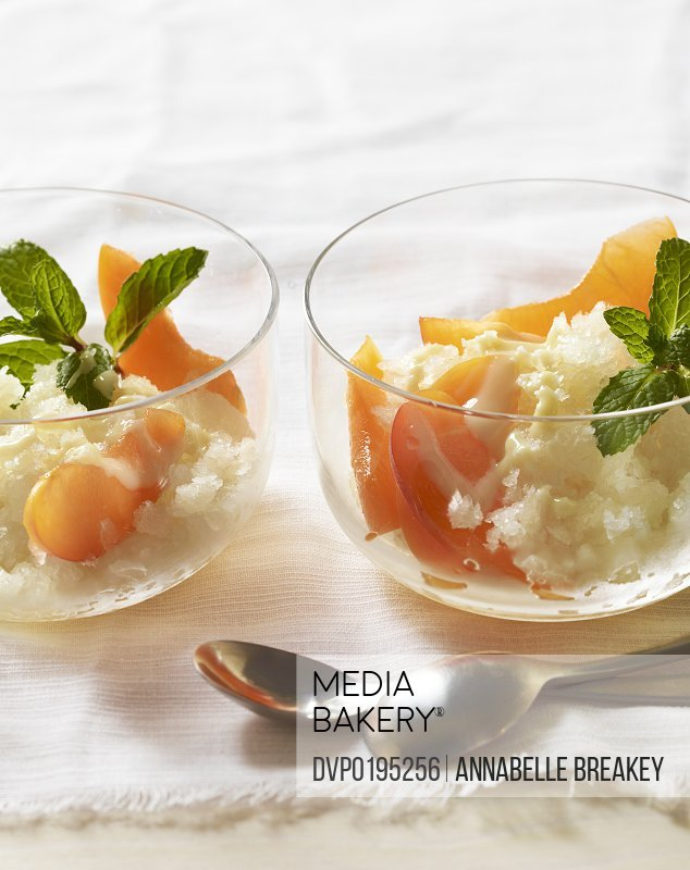 Ginger Shaved Ice Dessert with Apricots