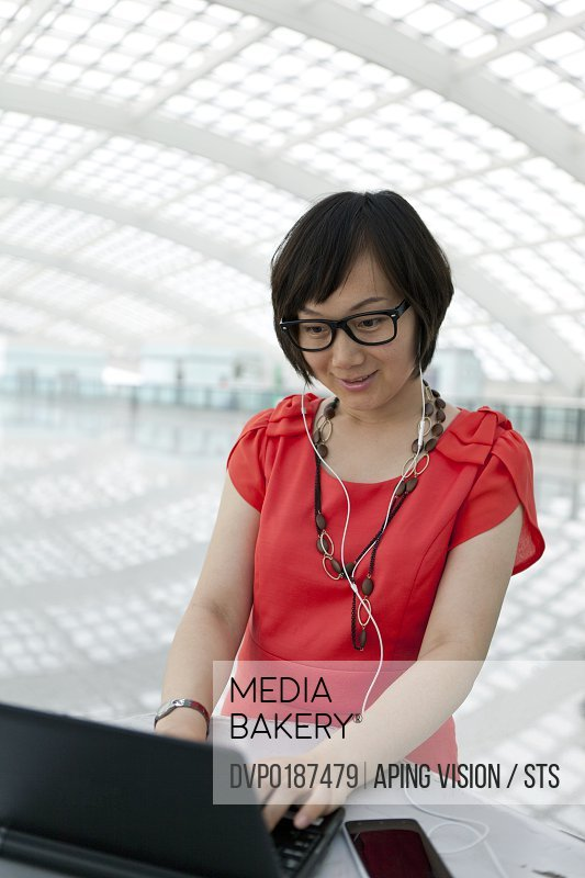 business people in the Beijing Capital International Airport