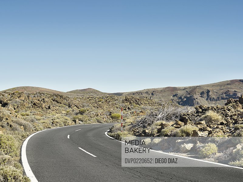 Road through beautiful desert landscape