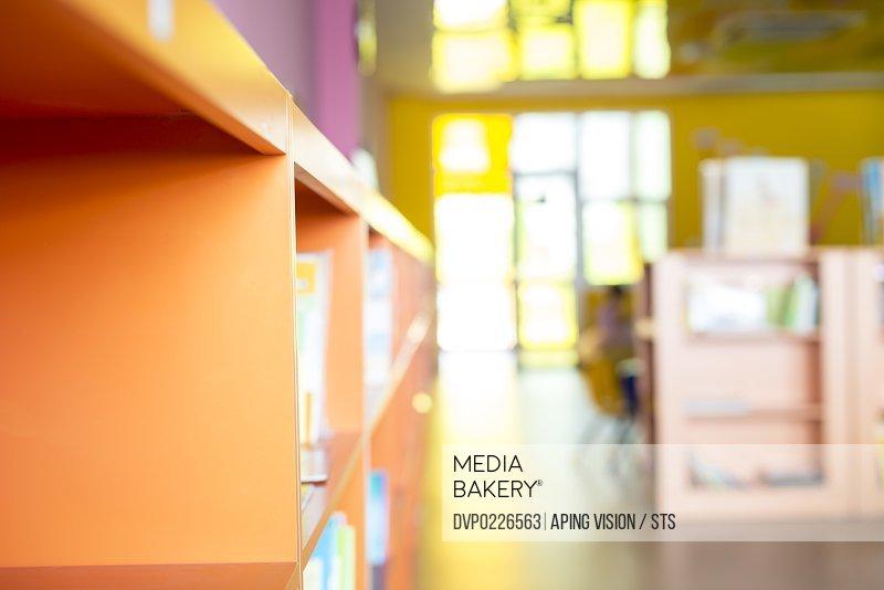 kindergarten bookshelf