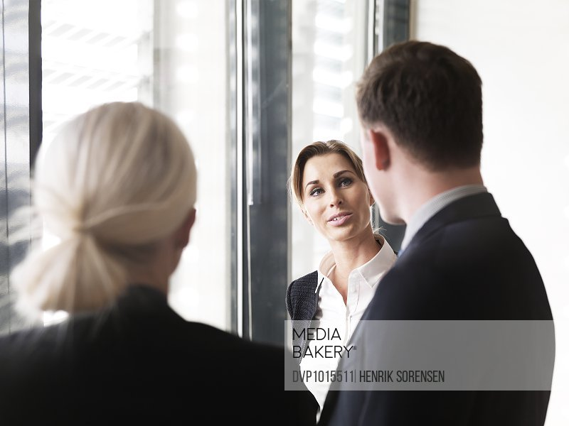 Business people discussing