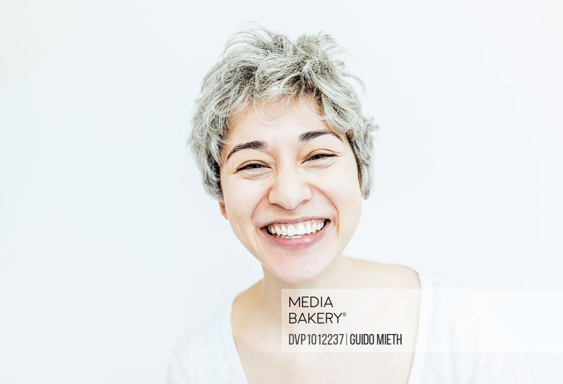 Happy smiling asian woman.