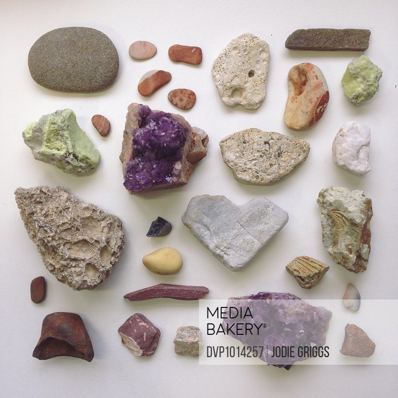 Collection of different rocks