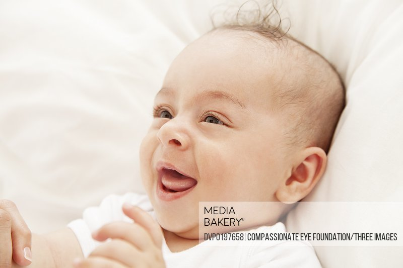 Baby laughing close up