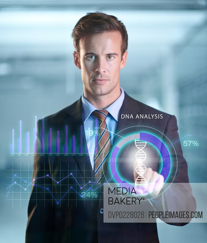 Cropped shot of a handsome young businessman using a digital interface