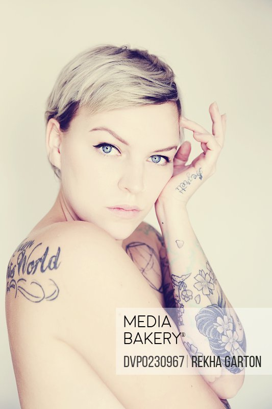 Young tattooed woman