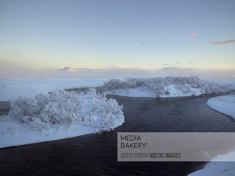 Geothermal area Lake Myvatn Iceland