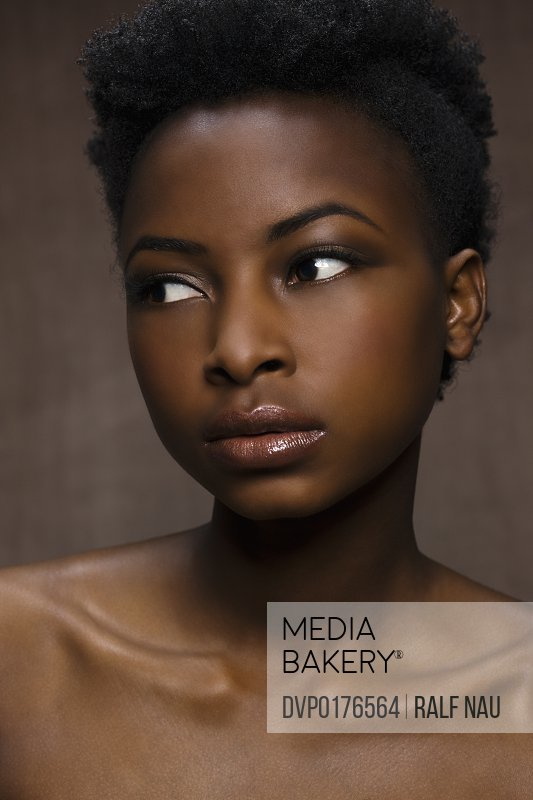 Afro-American woman with flawless skin