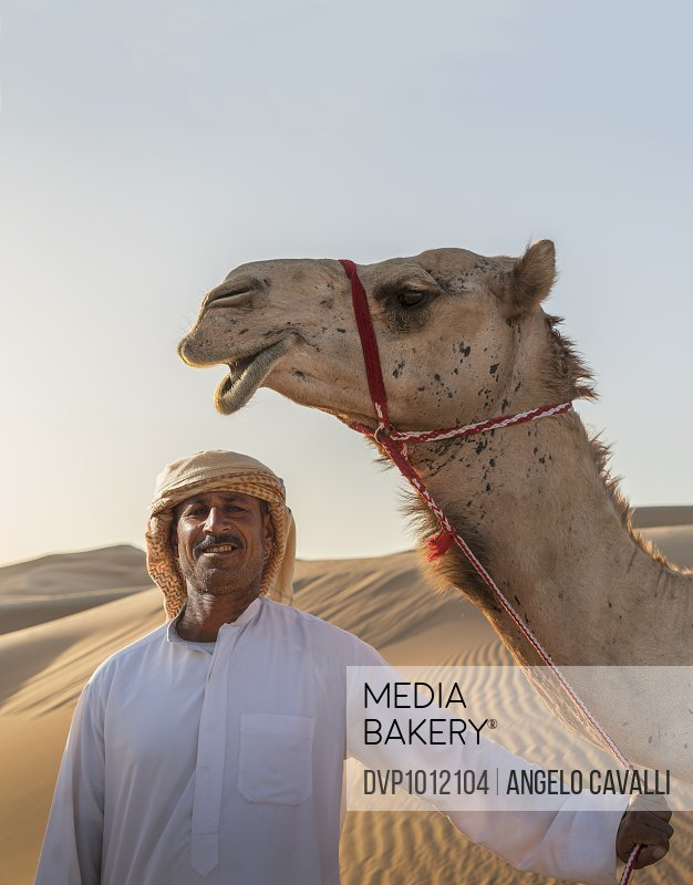 Arab man with his camel