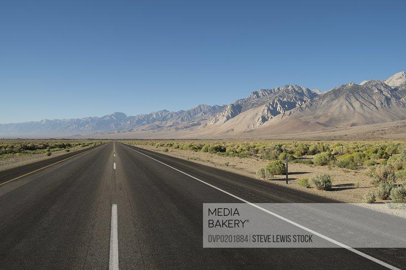 Desert roads in California