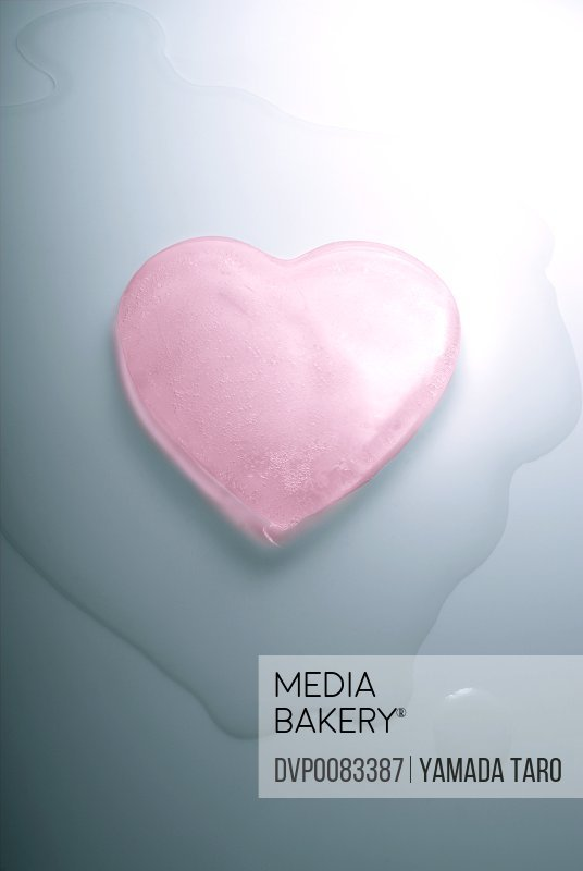 Pink ice heart