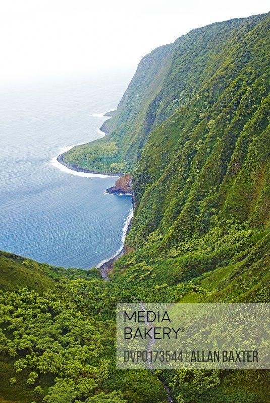 Valley on Moloka'i North shore