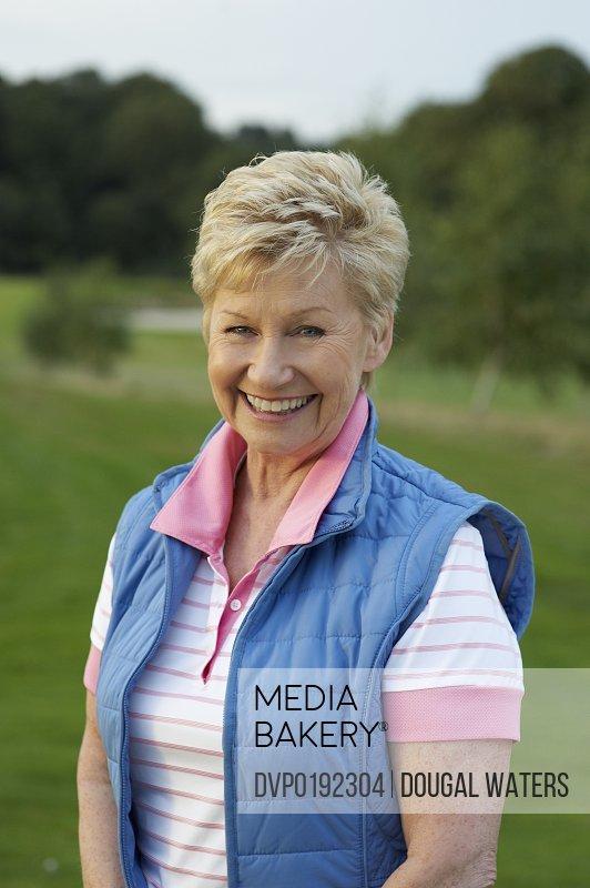 Portrait of female golfer
