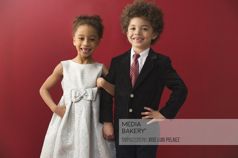 Mixed Race Kids Before the Dance