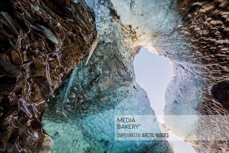 Ice Cave Svinafellsjokull Glacier Iceland