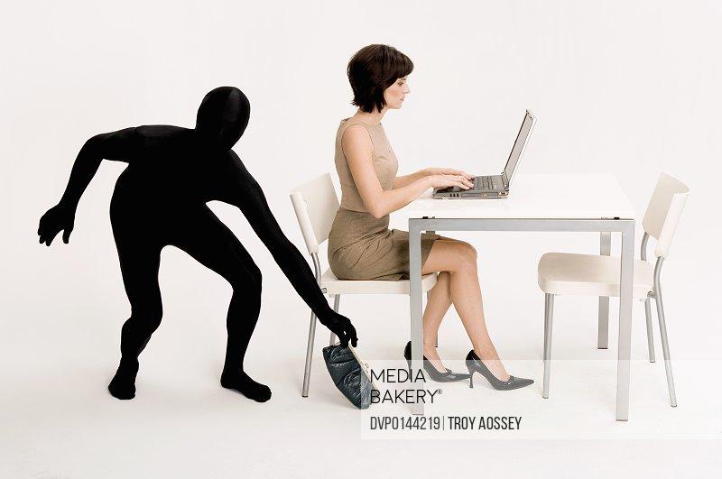business woman having her identity stolen.