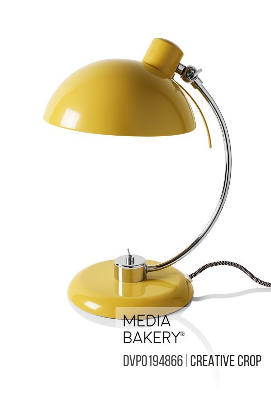 Yellow reading desk lamp