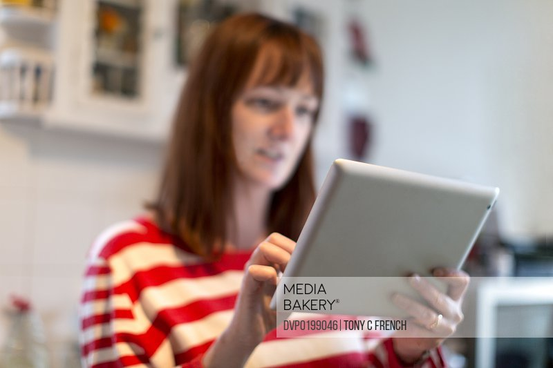 Girl using a tablet computer