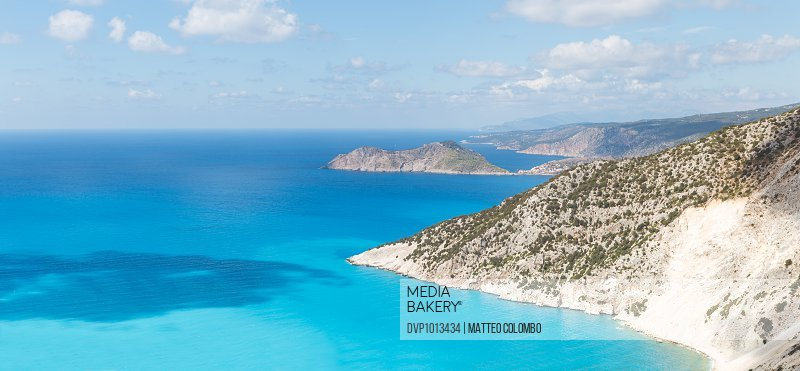 Coastline and blue mediterranean sea. Greece