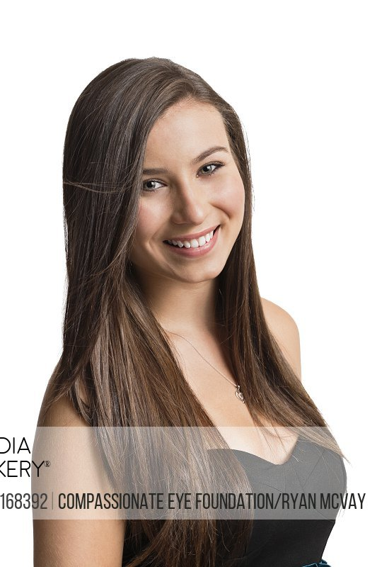 Portrait of smiling girl with long hair