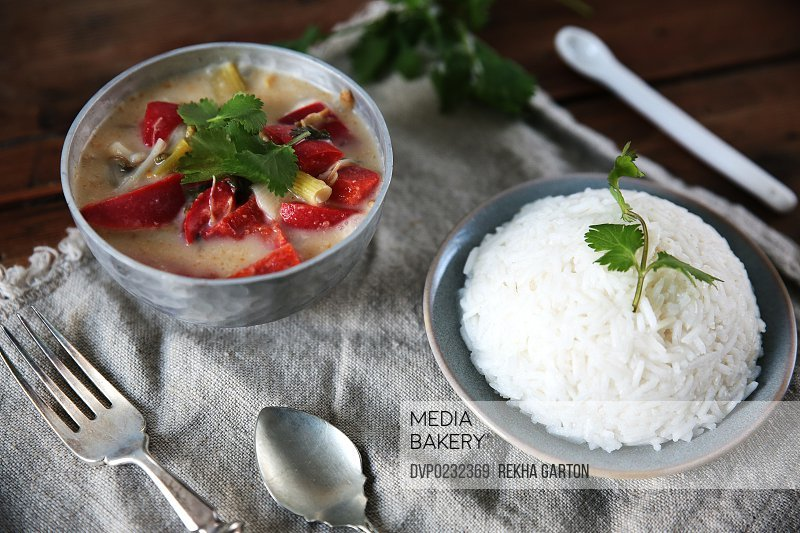Vegetable itame and rice