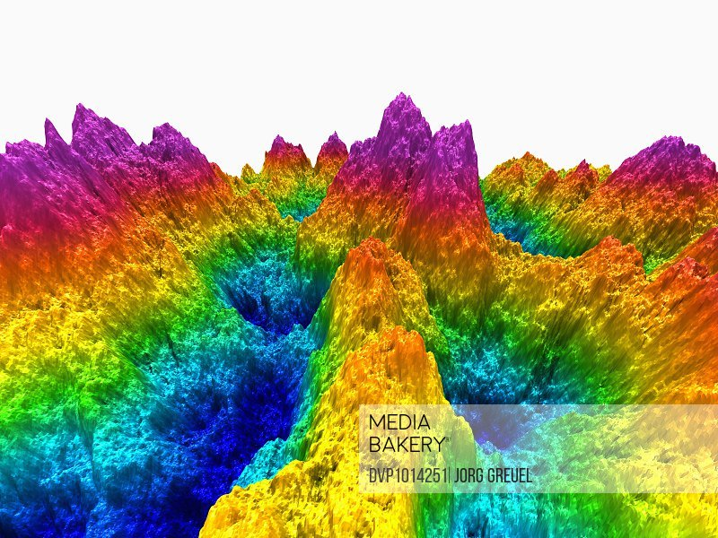 Mountains in prismatic colours