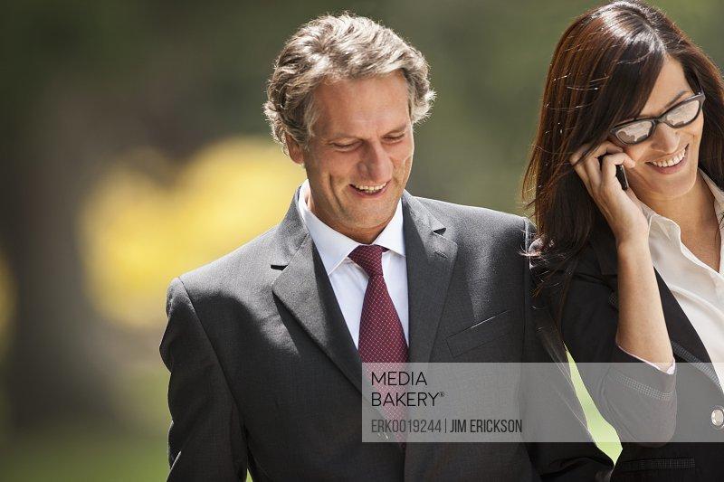 Portrait of corporate couple.