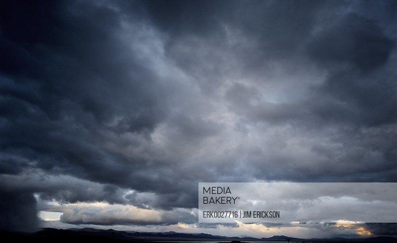 Clouds in a moody sky.