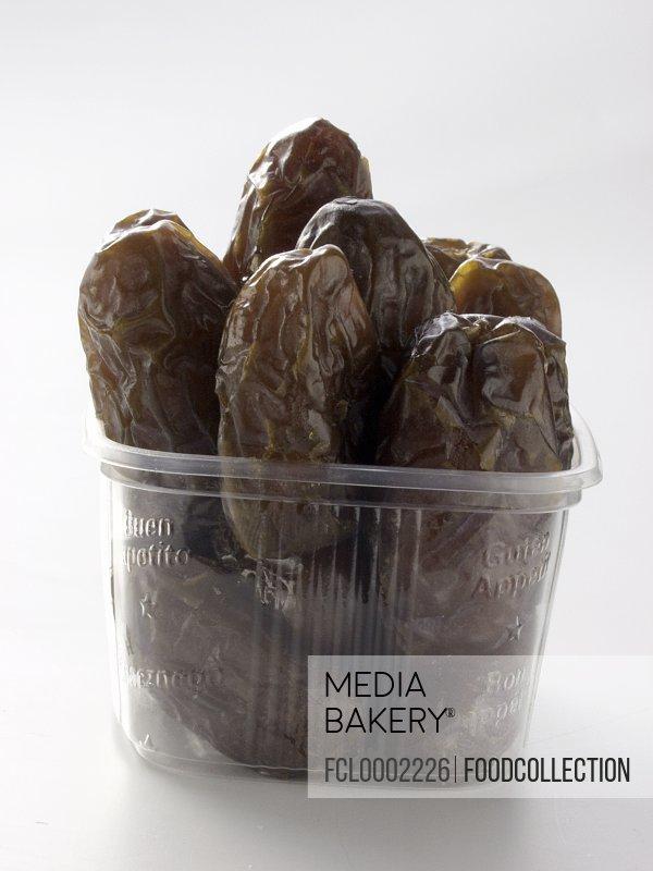 Dates in plastic container