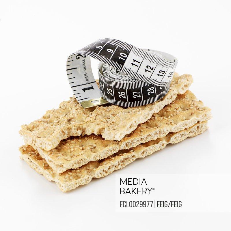 Crispbread with tape measure