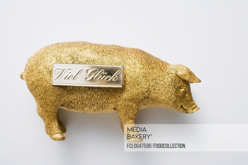 Golden pig (good luck charm for New Year)