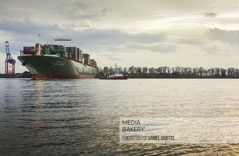 Germany Hamburg Container ship