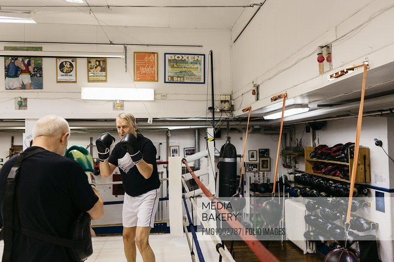 Senior men boxing