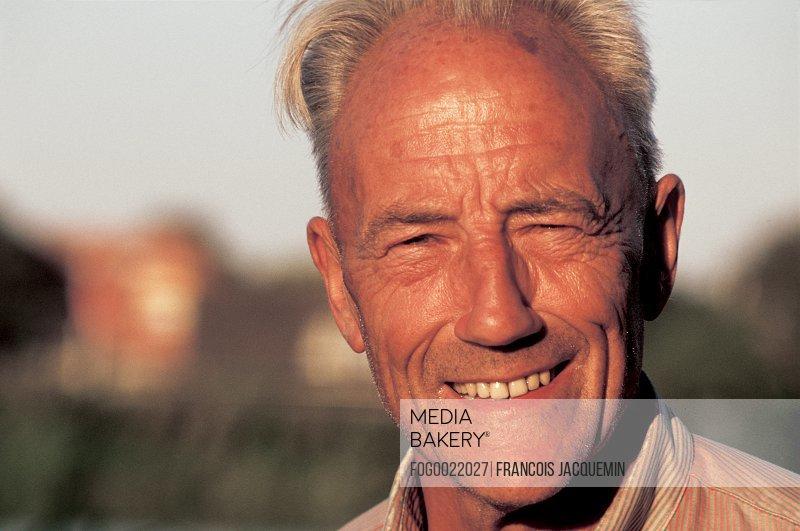 Close up of mature confident, man smiling